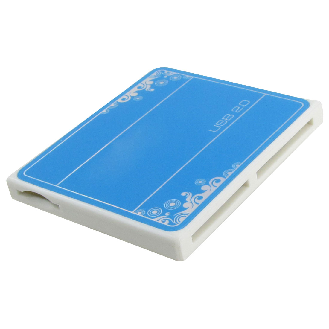 Blue 4 Slots SD MS M2 T Flash MMC USB 2.0 Memory Card Reader Writer