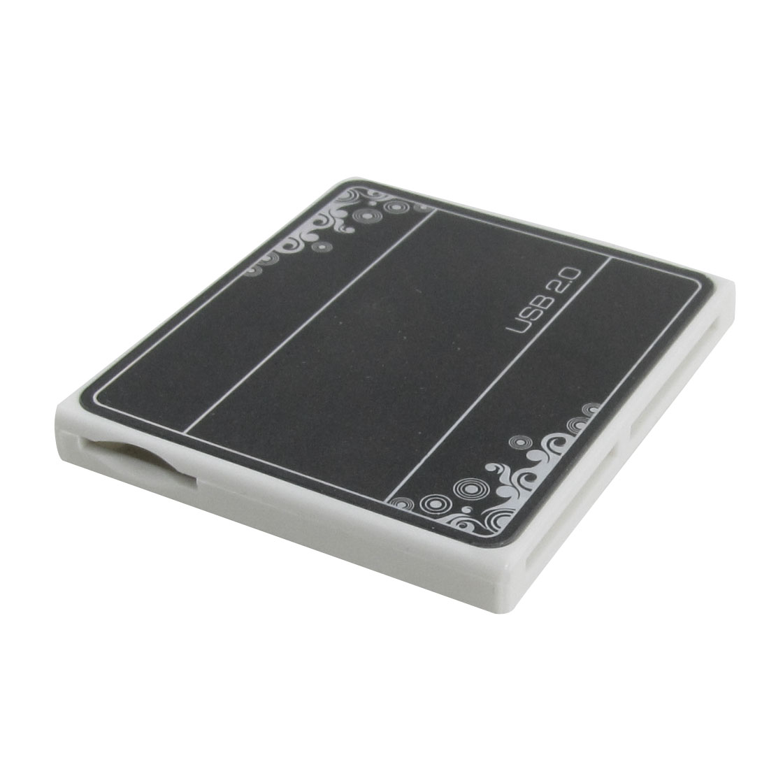 Mini SD T Flash RS-MMC USB 2.0 4 Slots Memory Card Reader Writer Black
