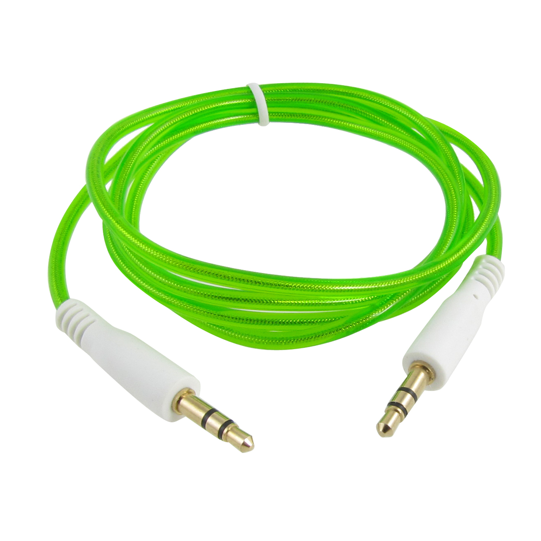 Green 3.5mm Plug Male to Male Audio Extension Cable 1.1M