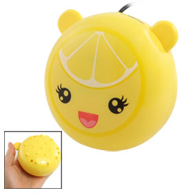 Personal Mini Cartoon Lemon Style Yellow USB Hand Warmer Massager