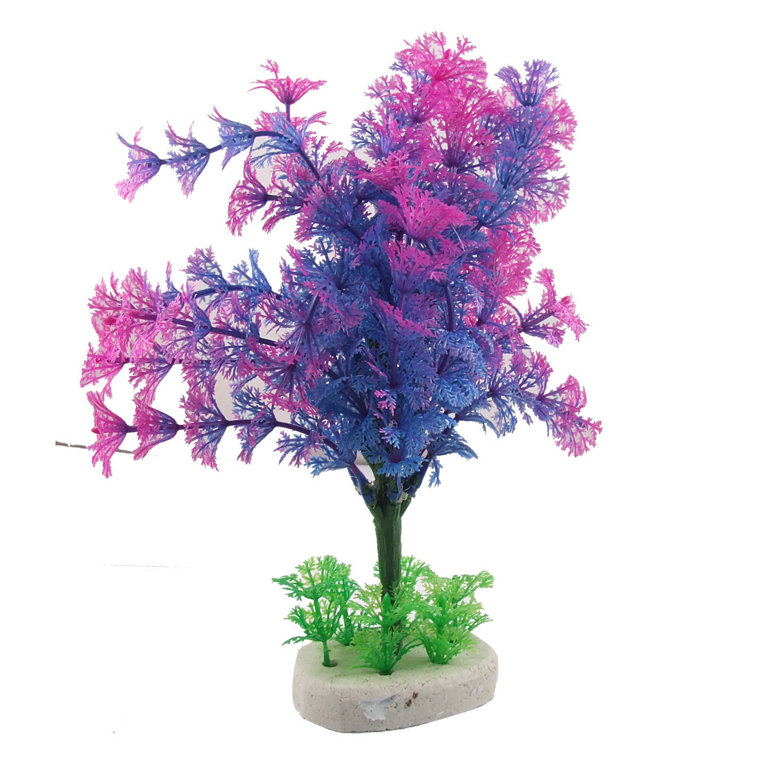 "Fish Tank Aquarium Decorative Purple Blue Green Plant 9.4"" Height"