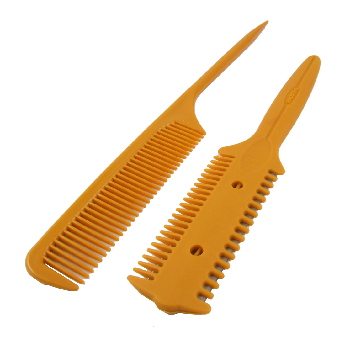 2 in 1 Set Metal Razor Blade Plastic Hair Comb Trimmer Cleaner