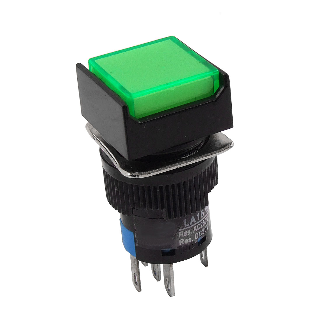 DC 24V Green Neon Light Square Momentary AC 3A/250V DC 5A/30V Pushbutton Switch