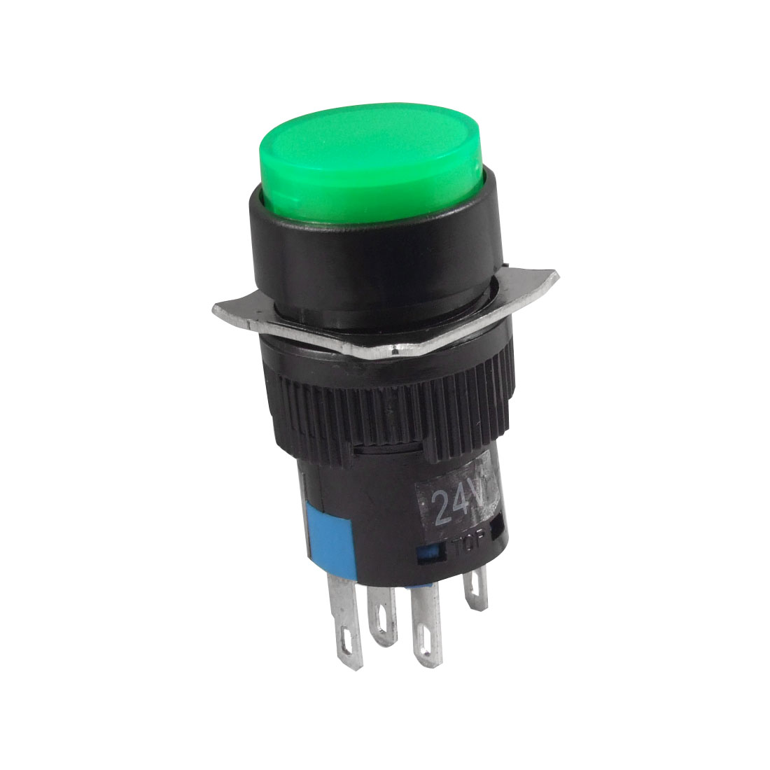 DC 24V Green Neon Light DC 30V 5A AC 3A/250V Momentary Push Button Switch