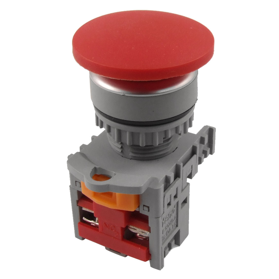 "38mm 1.5"" Red Sign Momentary Mushroom Pushbutton Switch 1 NC N/C Normally Close"