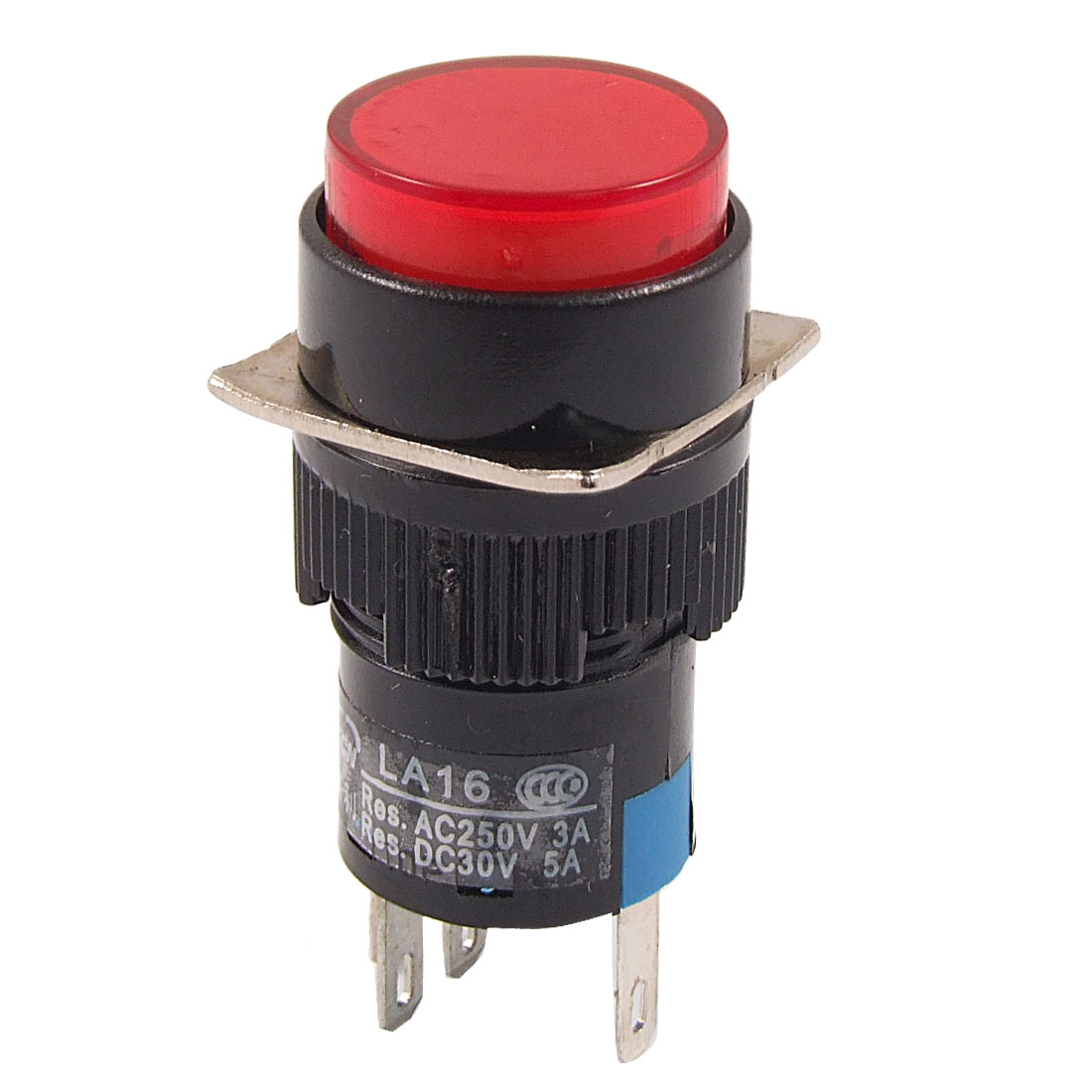 DC 24V Red Neon Light Momentary Push Button Switch AC 3A/250V