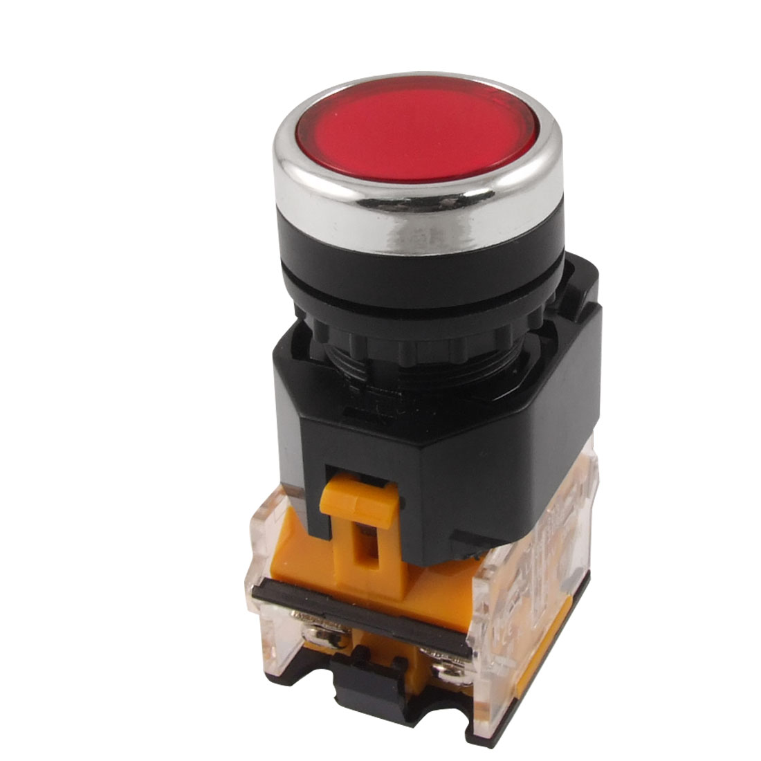 "Red Sign Ignition Momentary Push Button Switch 22mm 7/8"" 1 N/O 1 N/C 10A 380V AC"