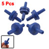 5 Pcs Blue Plastic Air Pump Outlet Check Valves for Aquarium Tank