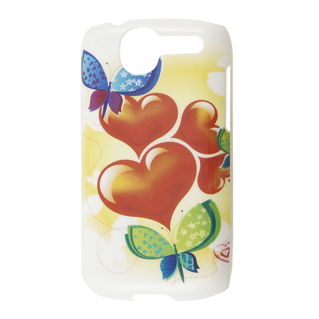 IMD Butterfly Heart 5 Colors Plastic Back Case Protector for HTC Desire G7