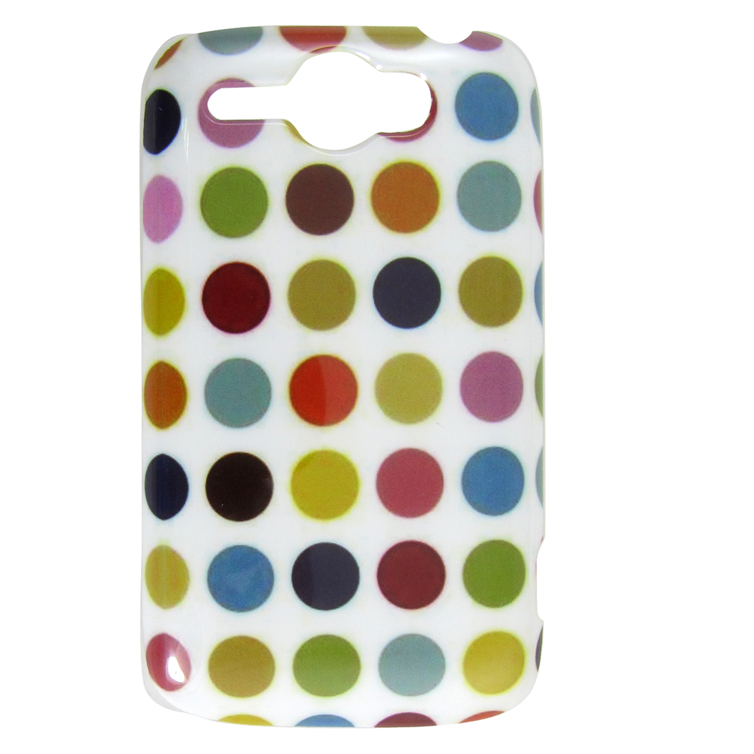 IMD Colored Dots Decor Plastic Back Protector Cover for HTC G8