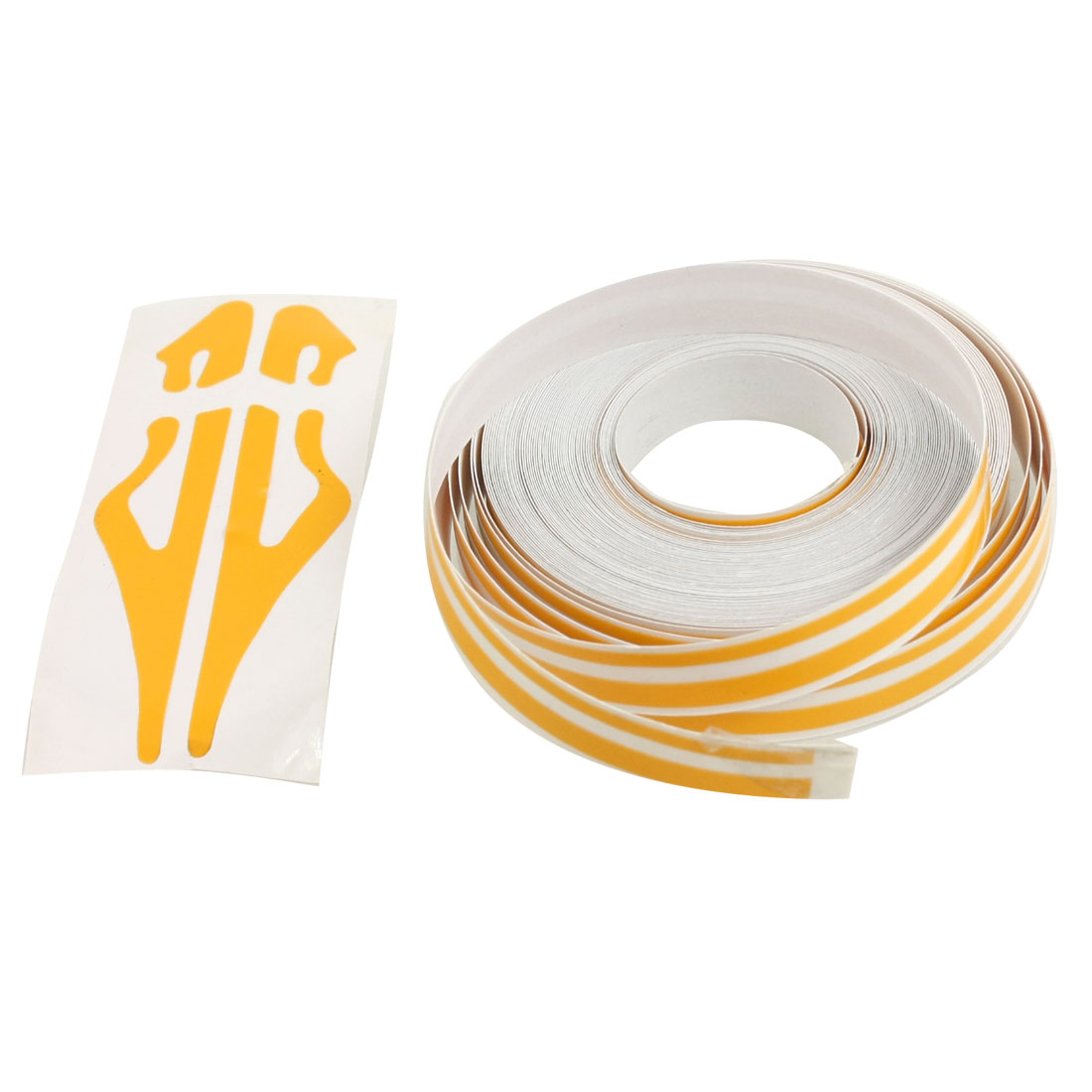 12mm Wide 9800mm Long Yellow Car Auto Decorative Line Strip