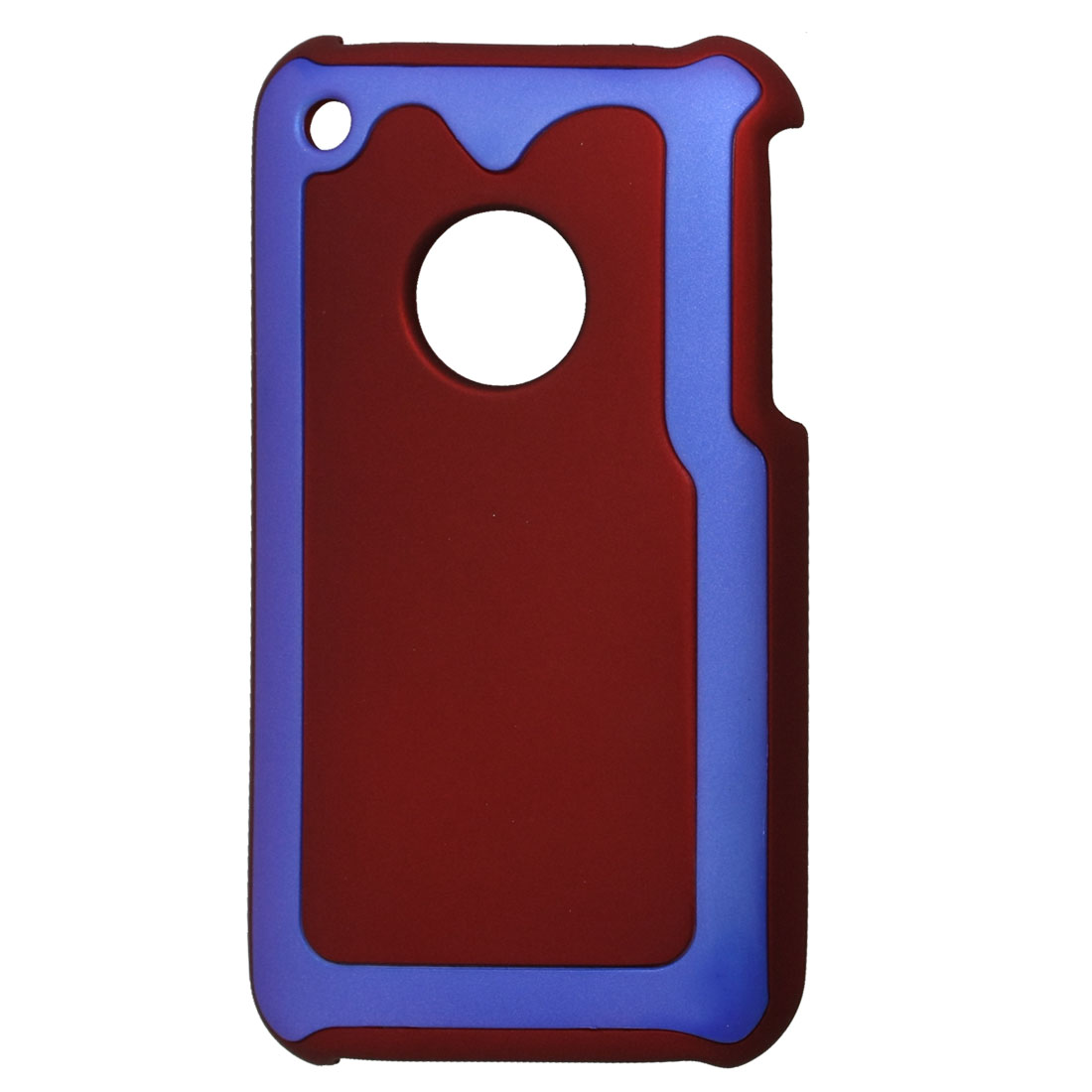 Blue Maroon Hard Plastic Back Protector for iPhone 3G 3GS