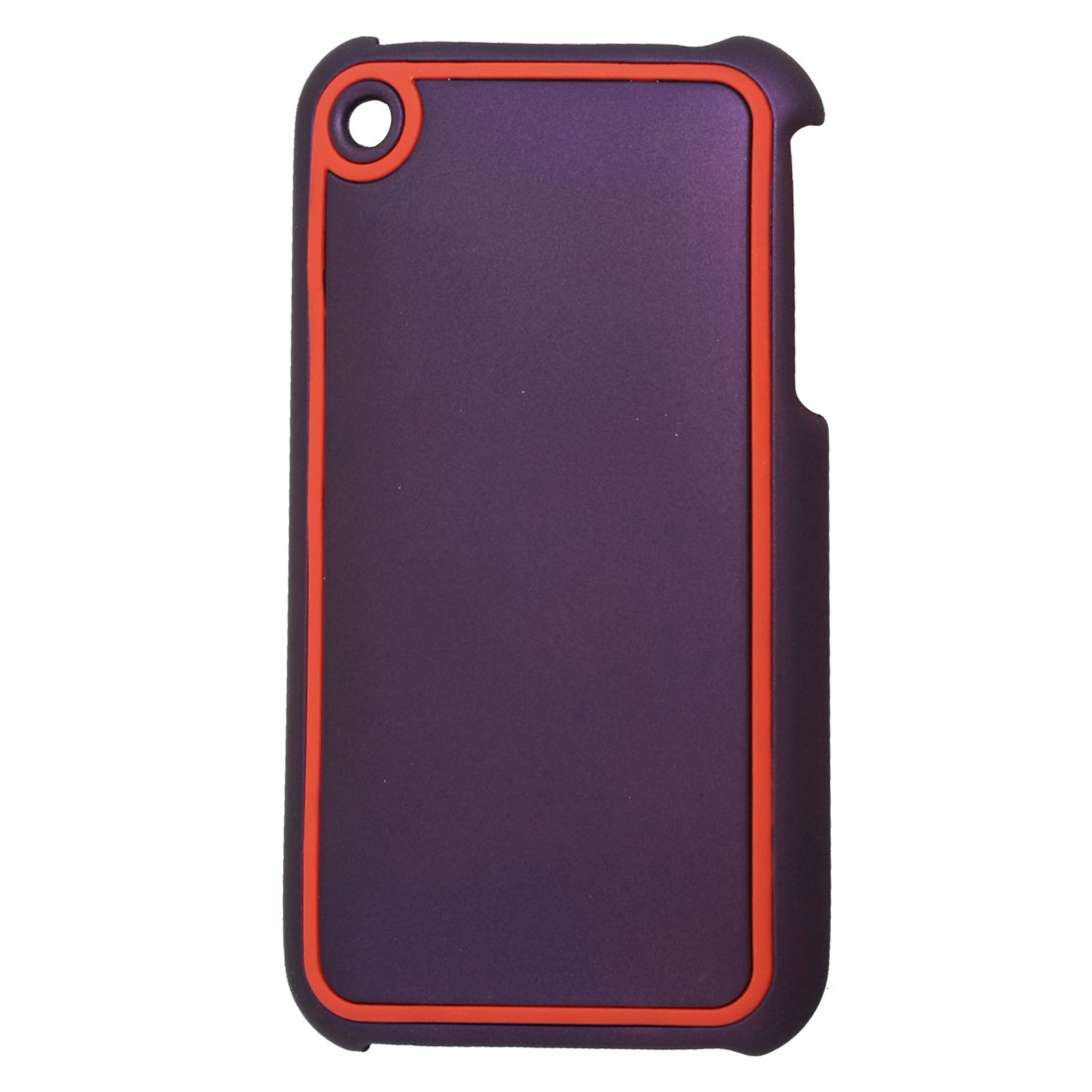 Smooth Hard Plastic Back Shell Purple Red for iPhone 3G 3GS