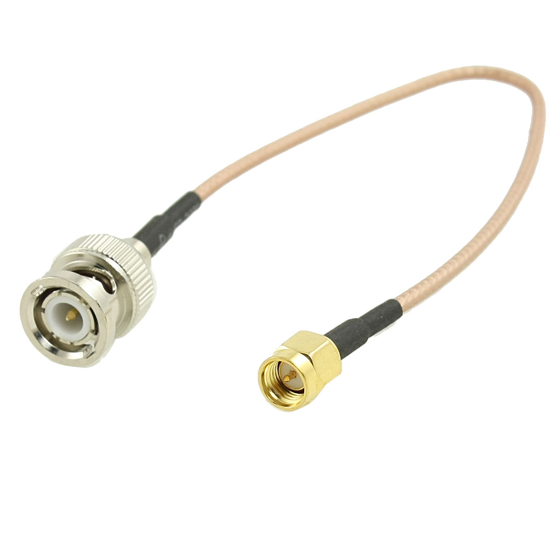 Gold-Plated BNC Male to SMA Male Connector Coaxial Extension Cable 8.8 Inch