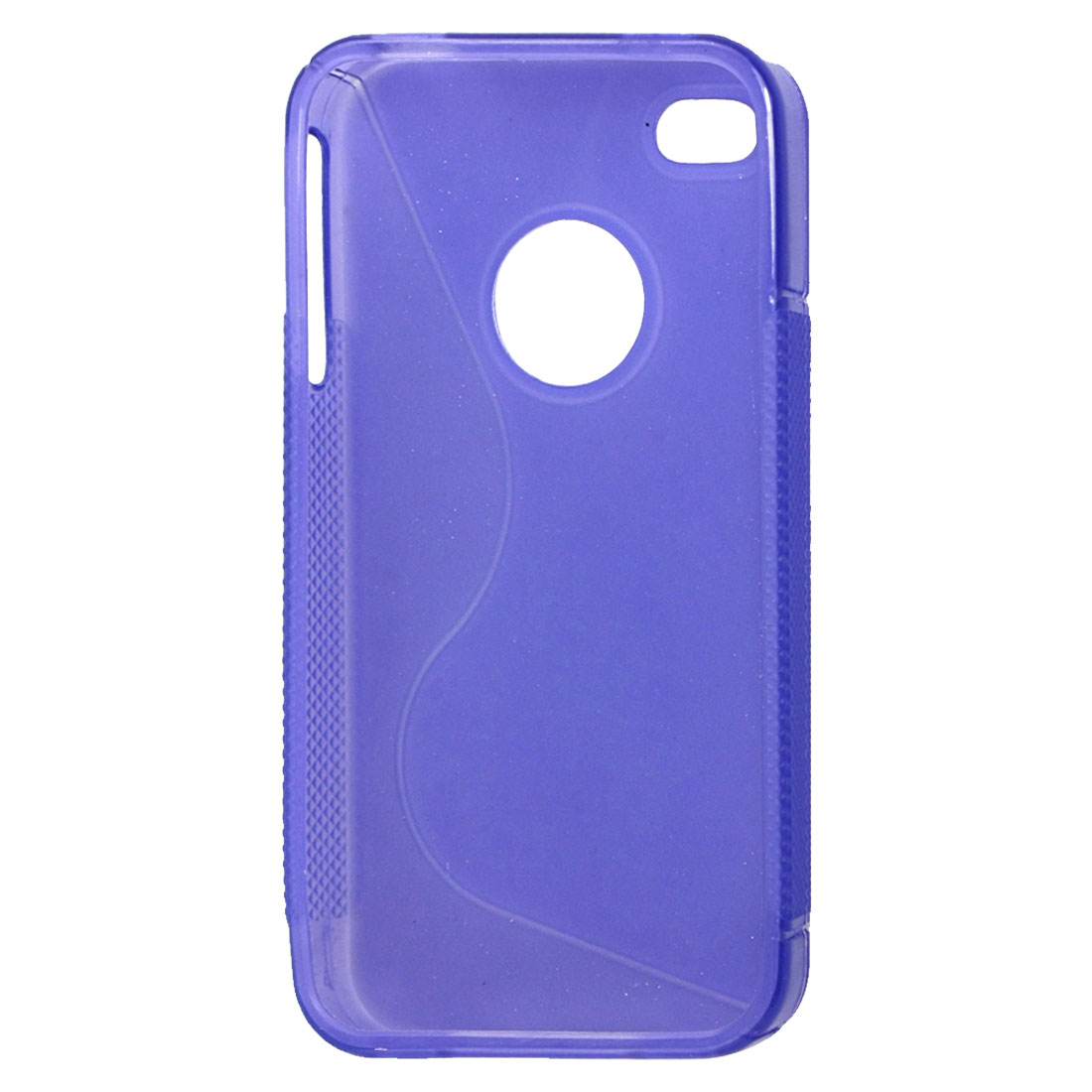 Nonslip Brim Soft Plastic Protective Case Purple for iPhone 4 4G 4S