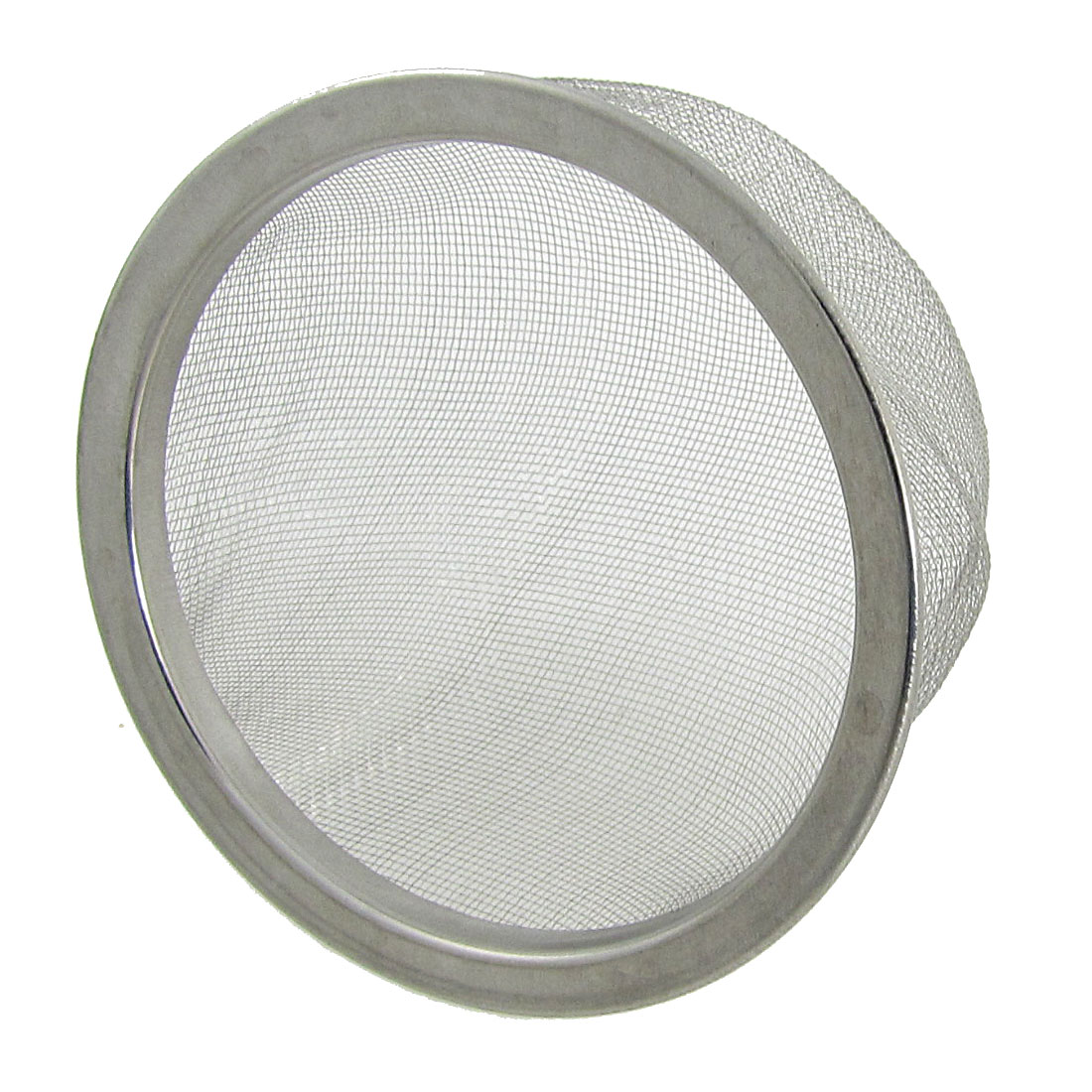 "3.1"" Outside Dia. Teapot Filter Stainless Steel Mesh Tea Strainer Silver Tone"