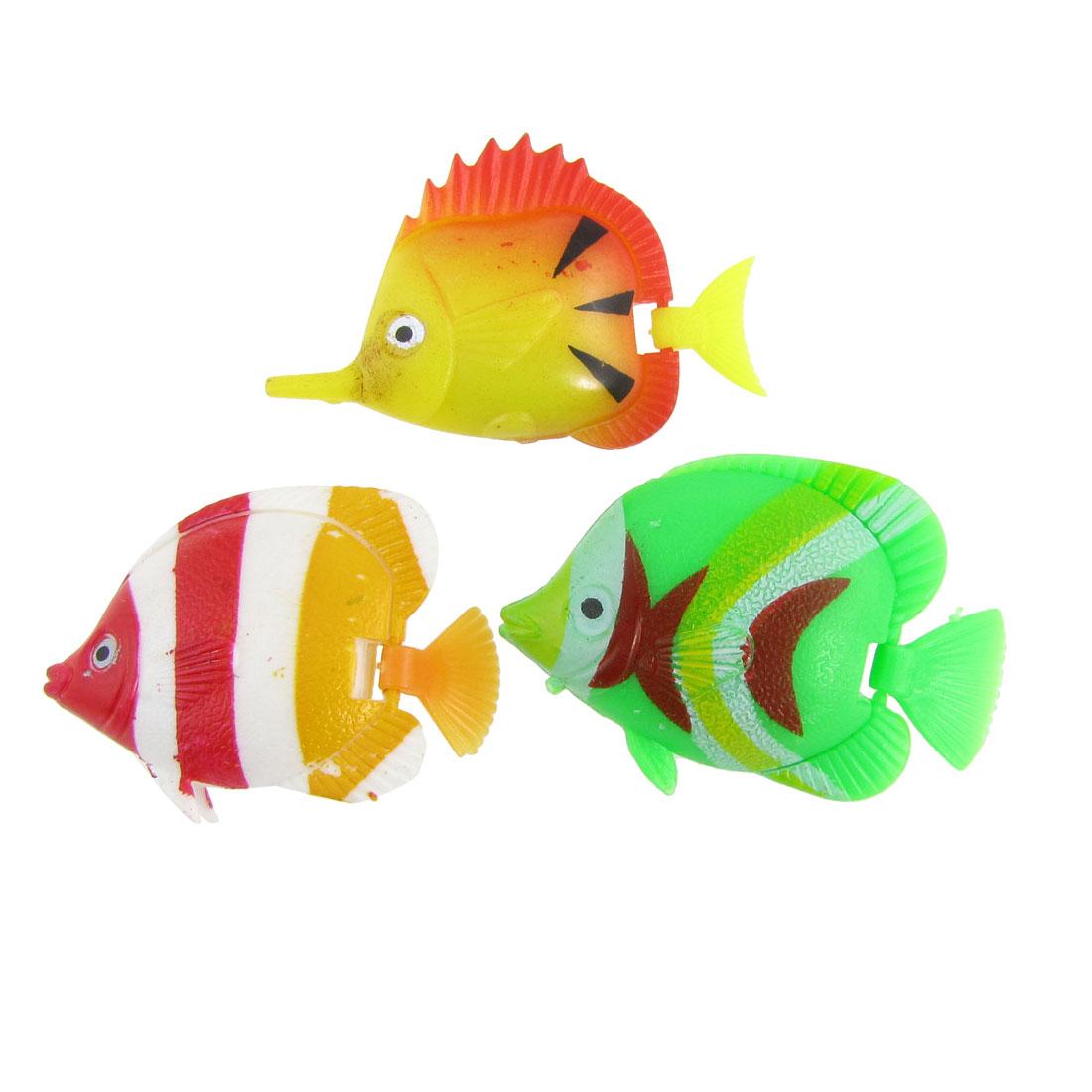 3 Pcs Colorful Plastic Tropical Fish Decor for Aquarium