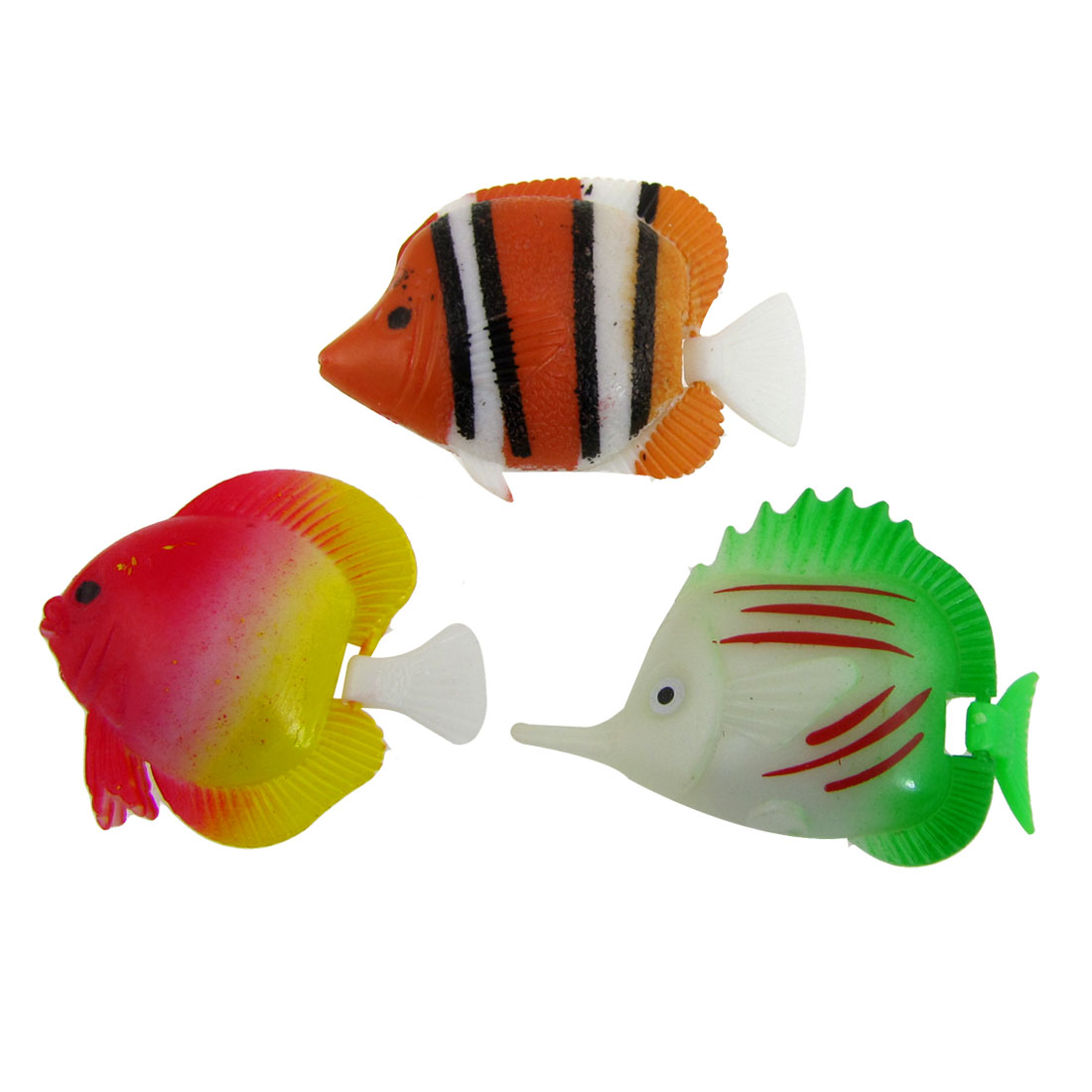 3 Pcs Colorful Plastic Floating Tropical Fish for Aquarium