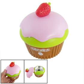 Red Plastic Strawberry Decor Pink Cover Cake Shape Cigarette Ashtray