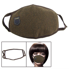 Man Woman Cycling Washable Anti Dust Warm Mouth Face Nose Mask Muffle Brown