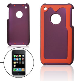 Smooth Hard Plastic Back Case Red Purple for iPhone 3G 3GS