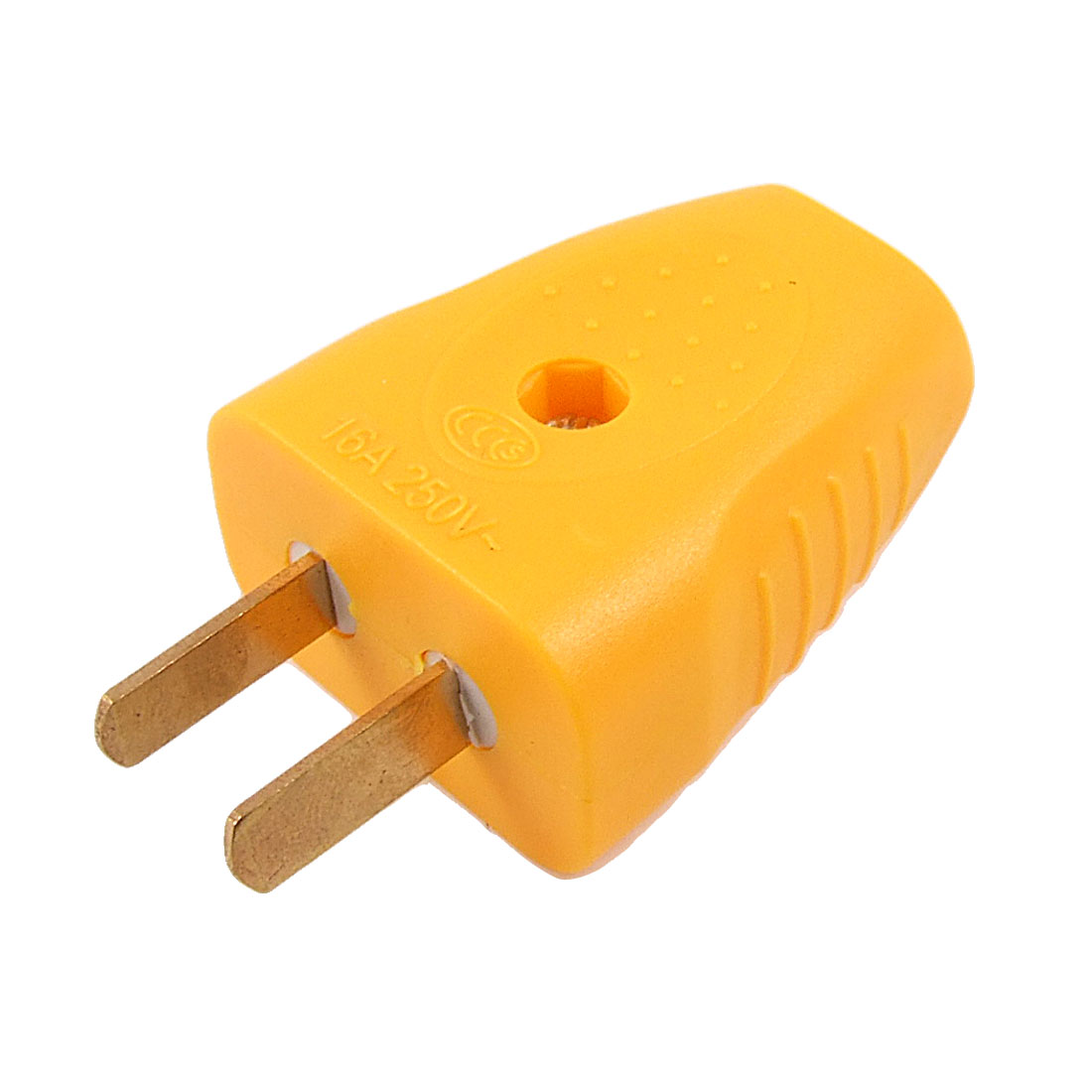 Orange Plastic Shell US AU 2 Pin Rotation Power Plug Adapter AC 250V 16A