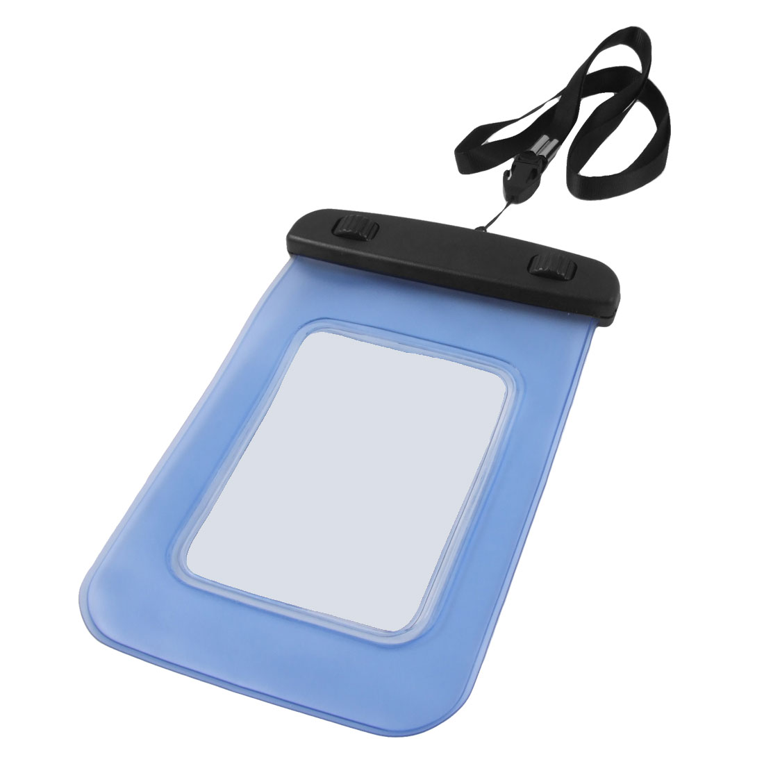 Plastic Water Resist Case Pouch Blue w Strap for iPhone 3G 3GS 4 4G