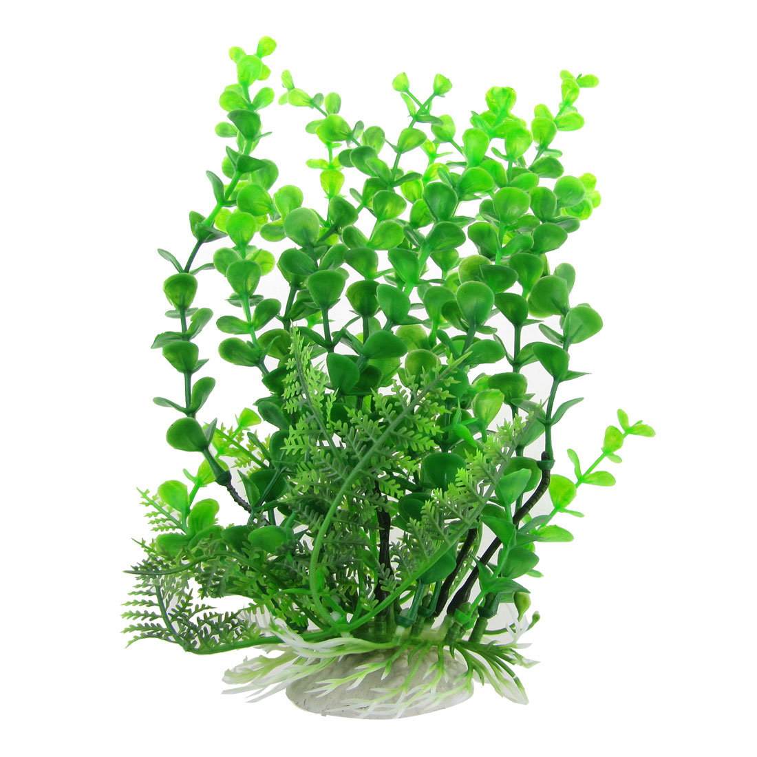 "Fish Tank Simulated Green Plastic Aquatic 9.8"" High Plant"