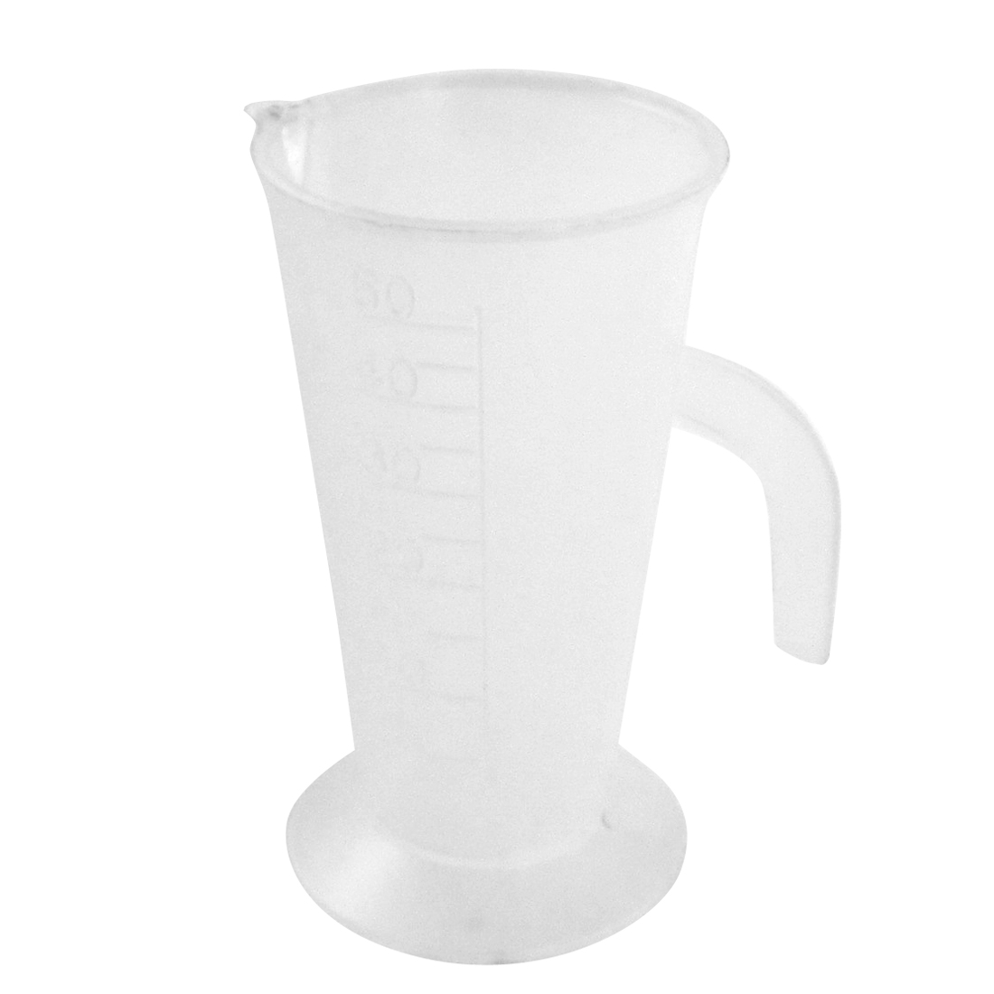 Kitchen Laboratory Plastic Measuring Cup Mug Measurement Beaker 50mL