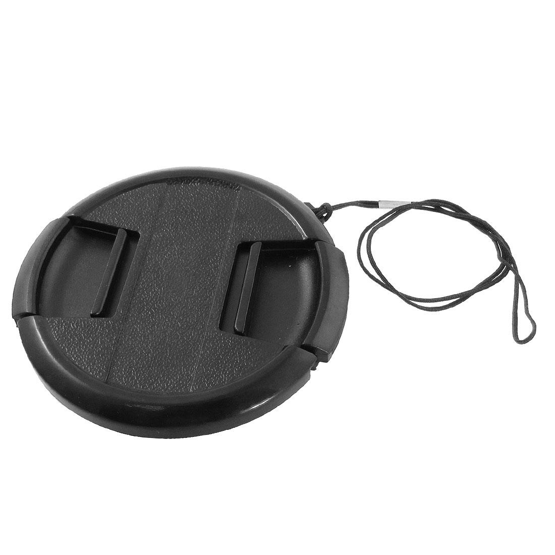 Digital Camera Plastic 72mm Front Lens Cap Cover Protector Black