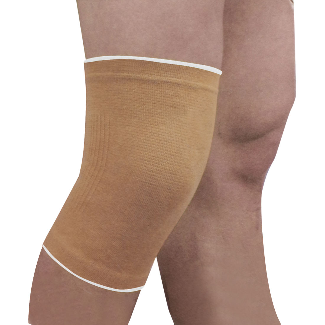 Sports Sleeve Knee Protective Wrap Stretch Band Support Khaki