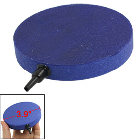 100mm x 15mm Blue Round Mineral Stone Airstone for Aquarium