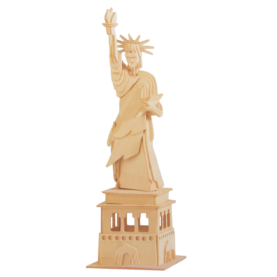 Wood Craft Puzzled DIY 3D The Statue of Liberty Model Construction Kit Toy Gift