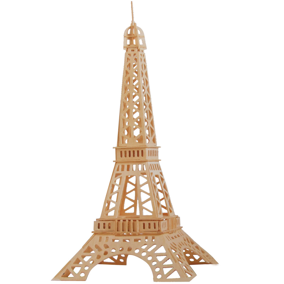 Assemble Eiffel Tower Model DIY Puzzle Wooden Construction Kit Gift