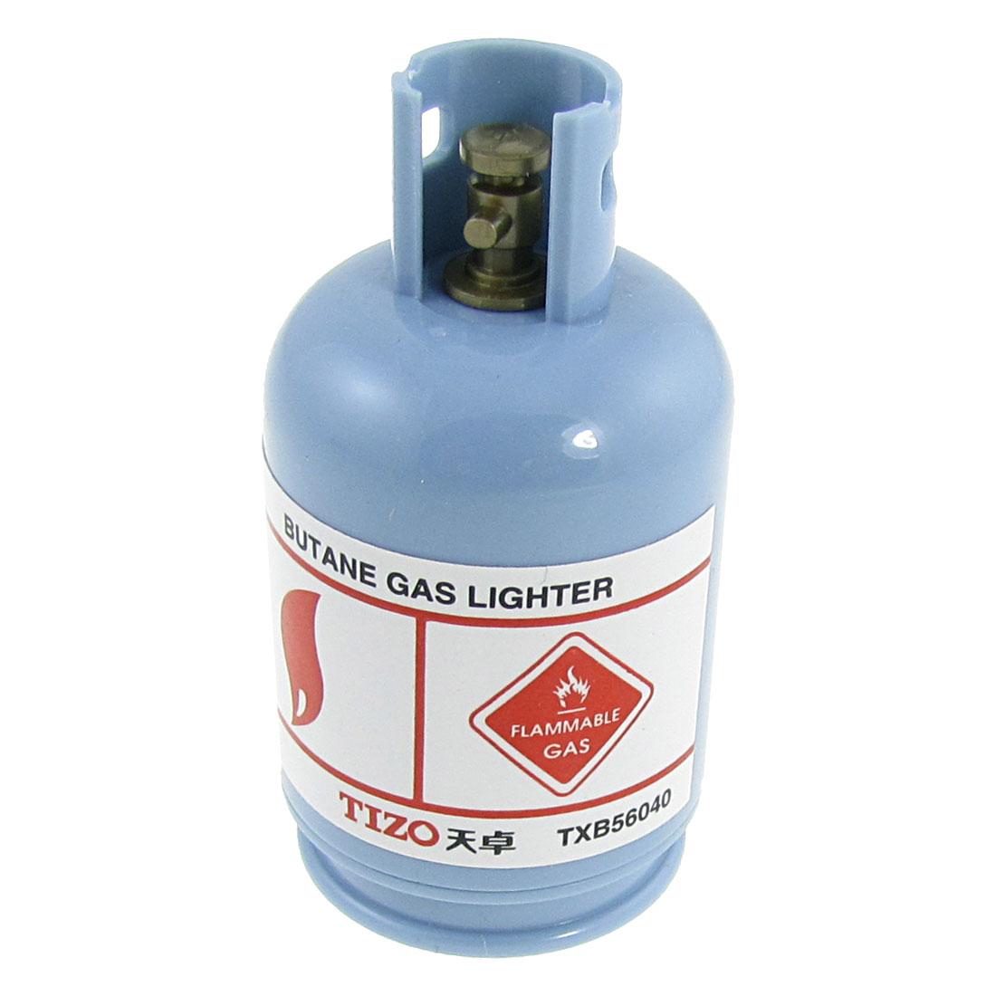 Light Blue Plastic Liquid Gas Bottle Shaped Pencil Shapener