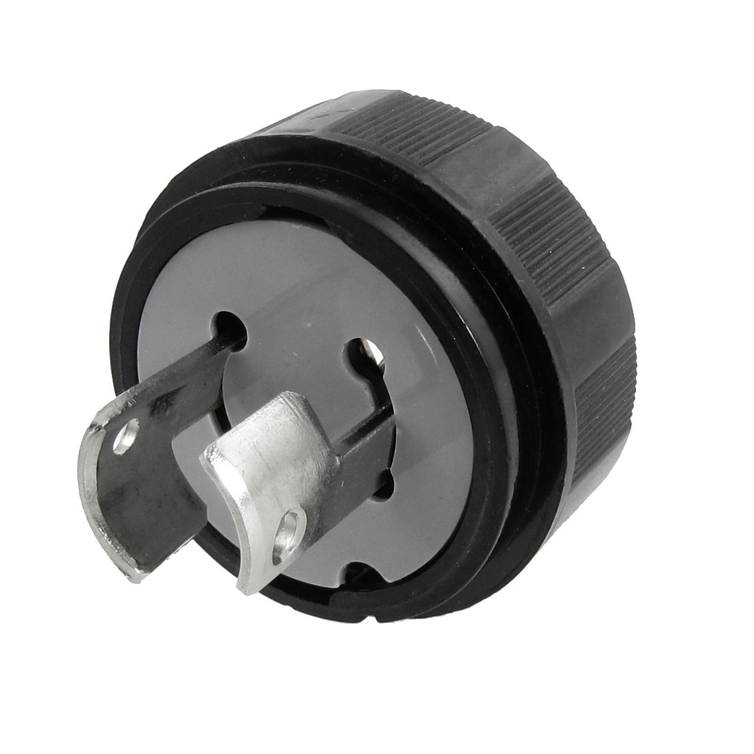 Black LK6220 20A 250VAC 2 Wire Locking Type Electrical Plug