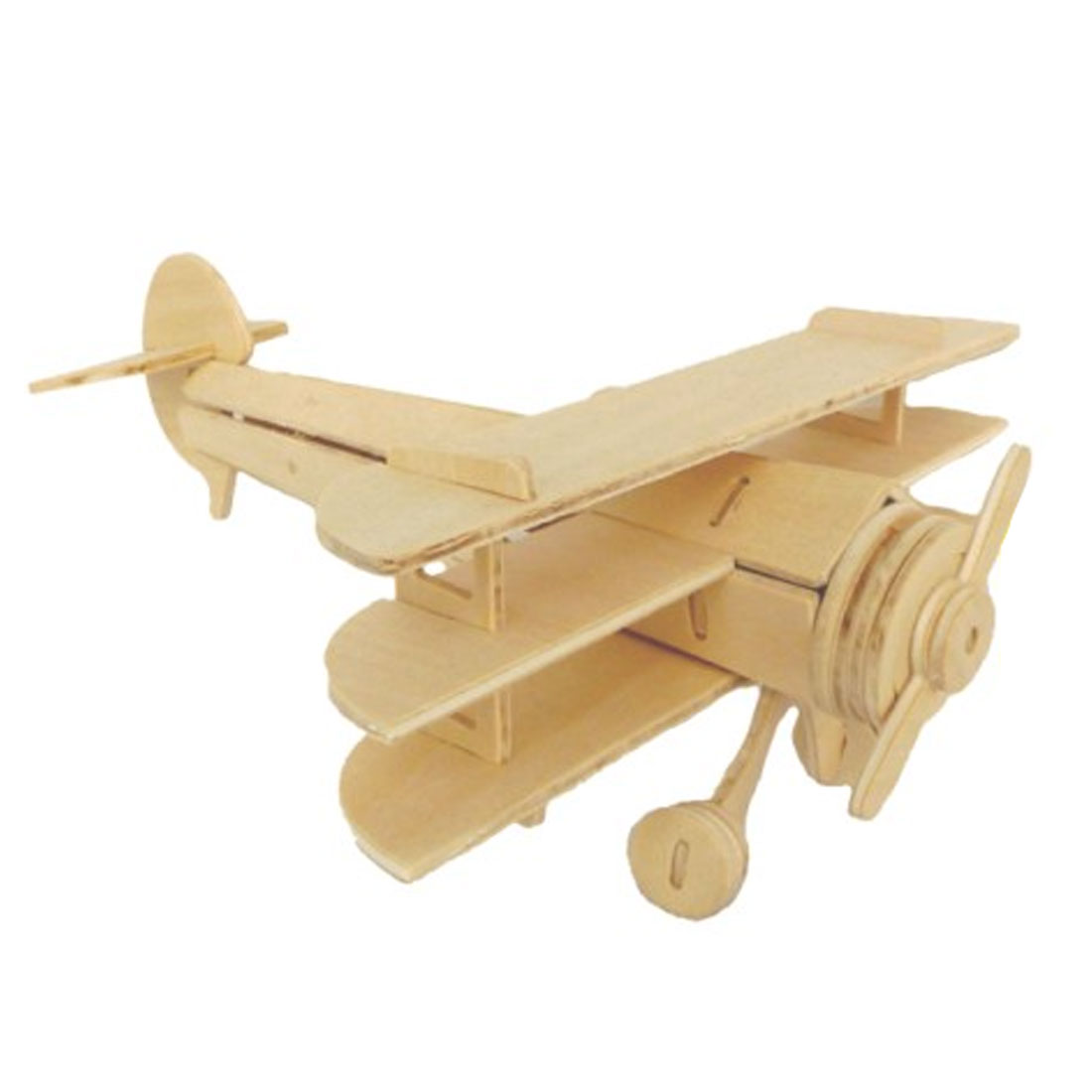 3D Wood Craft DIY Sopwith Triplane Model Wooden Intelligence Toy Gift