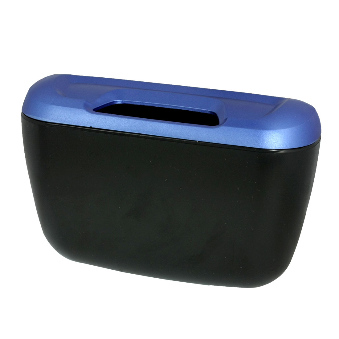 Car Interior Adhesive Blue Black Trash Bin Dustbin Junk Container