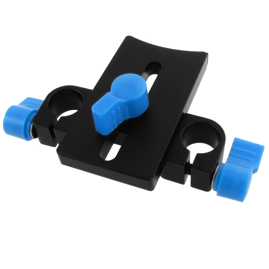 Camera Lens Support Rail Block Rod Clamp Two 15mm Dia Holes DSLR Rig Rail System