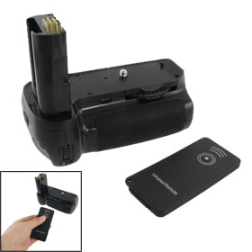 Camera Vertical Battery Grip Black + IR Remote Control for Nikon D80 D90