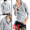 Mens UK Style Football Grid Slim Hoodie Shirts Sweatshirt Light Gray M