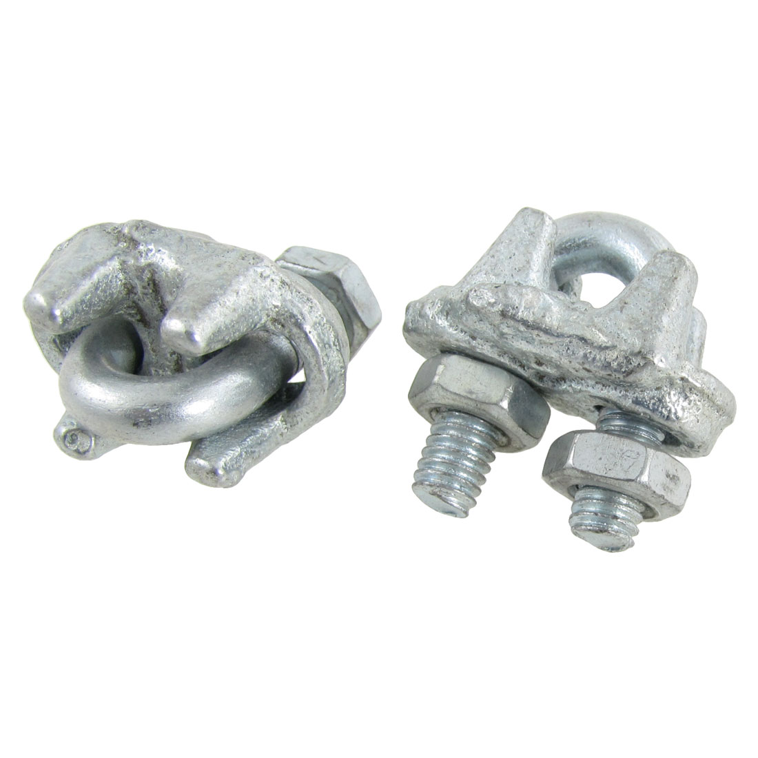 "2 Pcs Metal Malleable 5/16"" Dia Wire Rope Cable Clip Clamp"