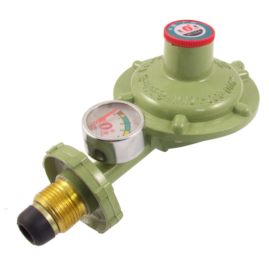 21.5mm Male Thread Single Gauge LP Gas Pressure Regulator