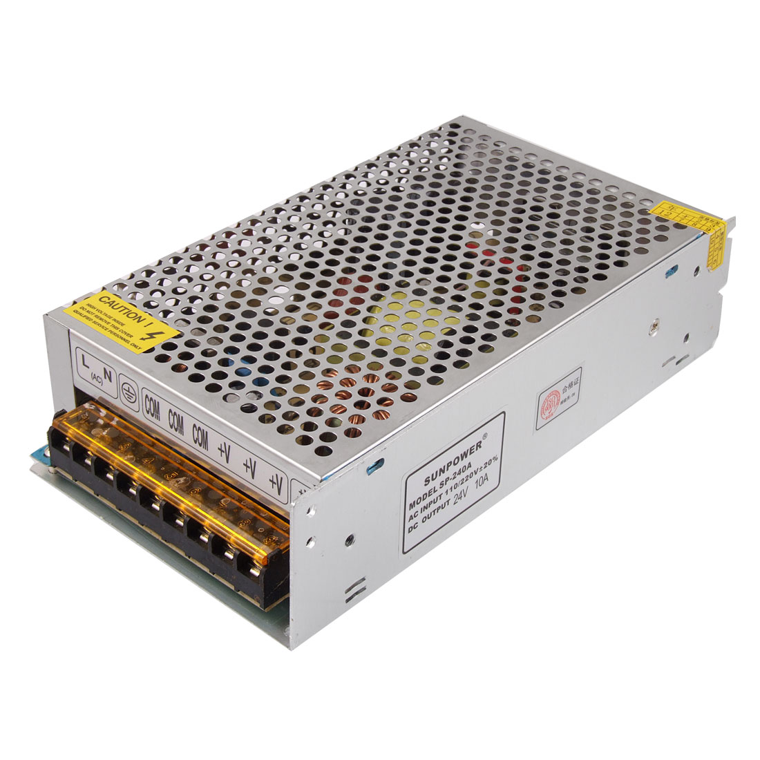 AC 100/220V DC 24V 10A 240W Regulated Switch Power Supply for LED Strip Flexable Light