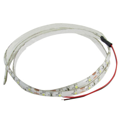 DC 12V 3528 SMD 60 LED White Car Flexible Light Lamp Strip 1M