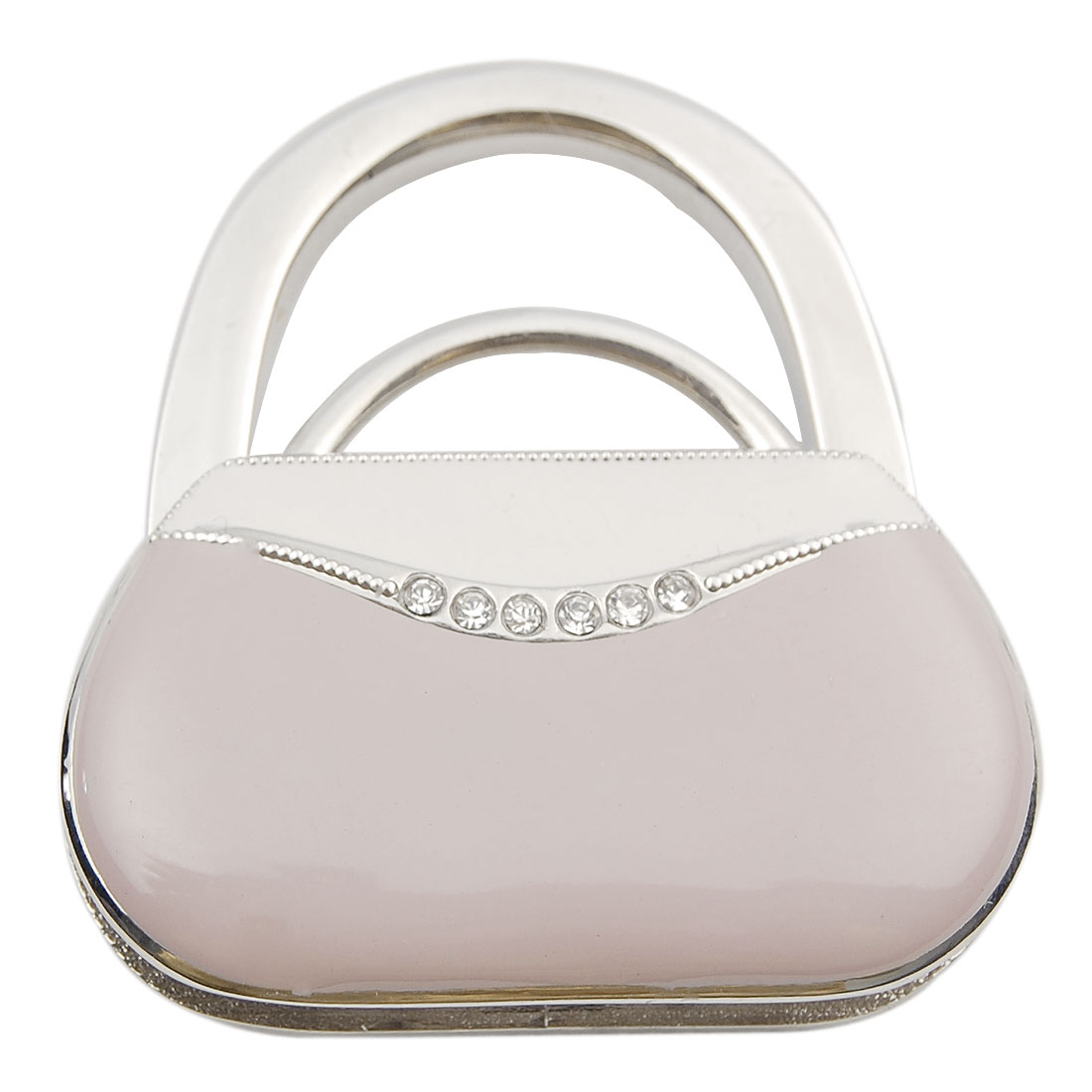 Rhinestone Decor Pink Foldable Handbags Purse Hook Hanger