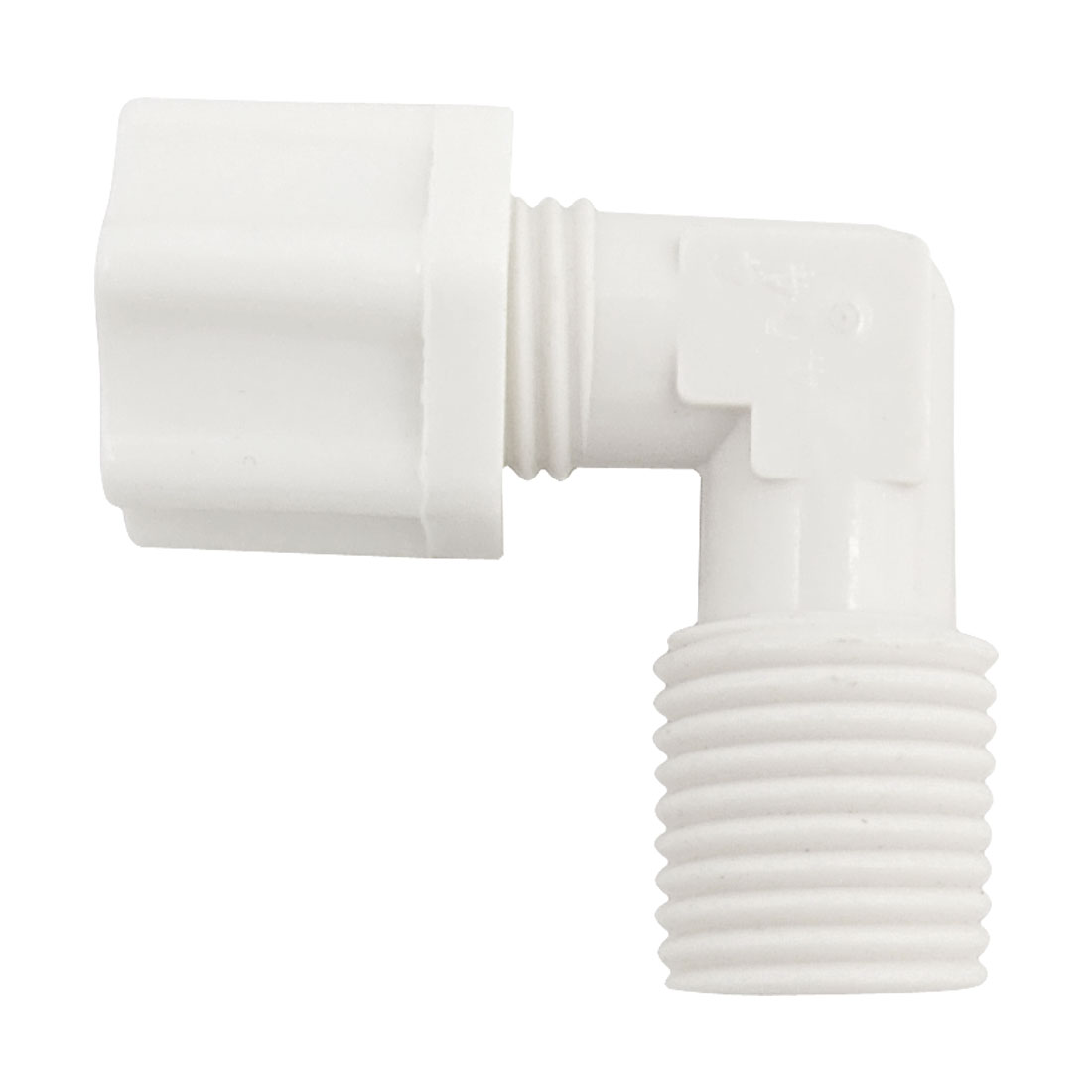 13mm Thread White Plastic Elbow Type Water Filter Pipe Connector