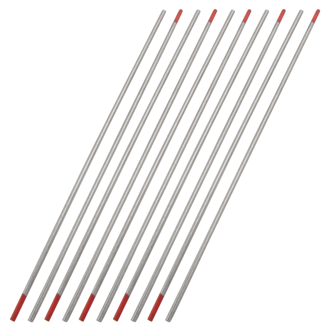 2mm x 150mm Welding Ceriated Red Tungsten Electrodes 10 Pcs