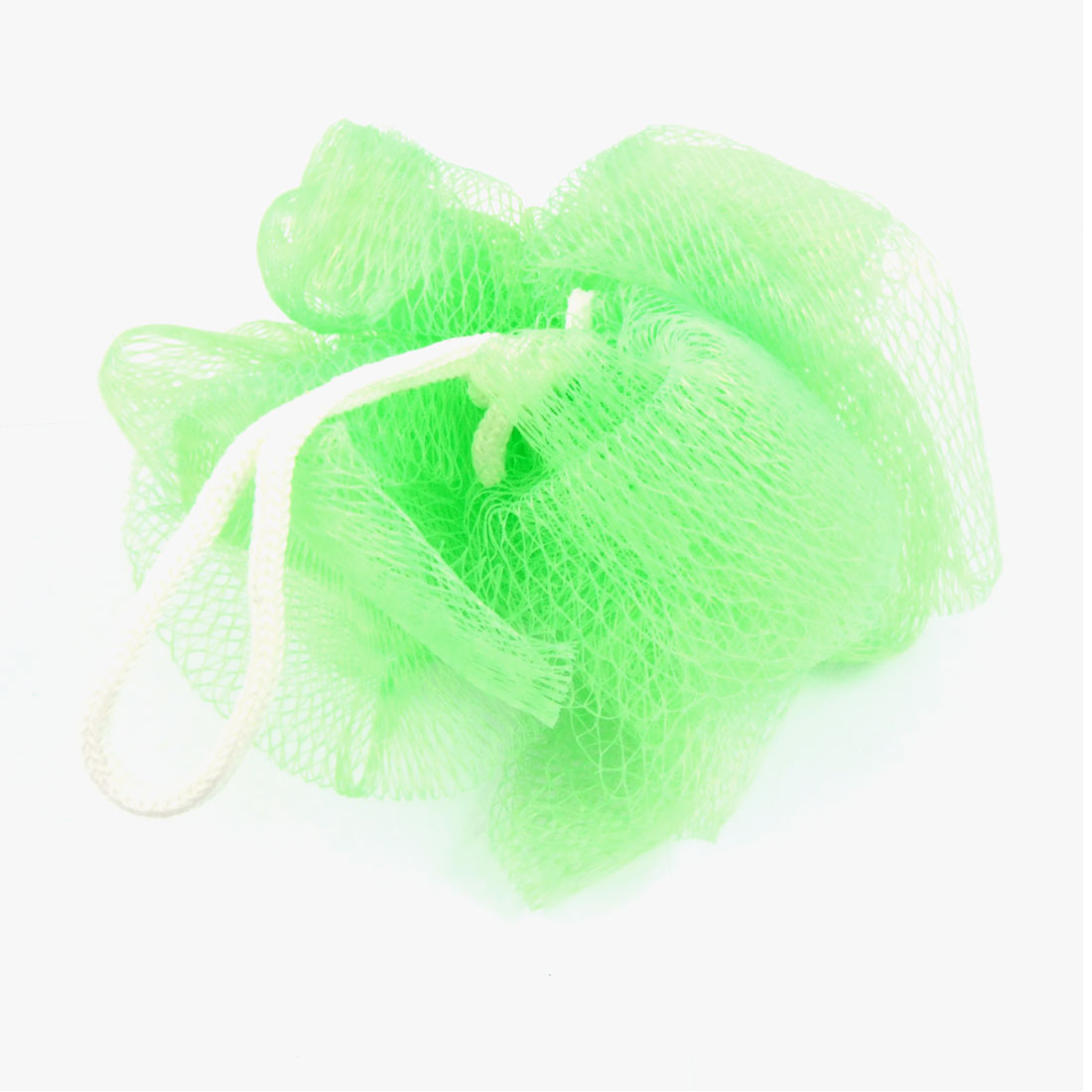 2 Pcs Bath Shower Body Foam Scrubber Apple Green Mesh Net Ball