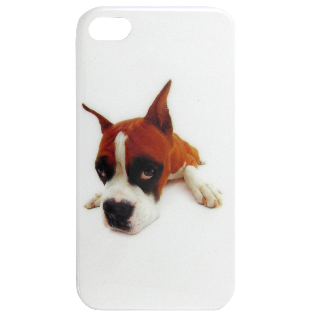 Brown Dog Prints Hard Plastic IMD Back Cover for Apple iPhone 4 4G 4S